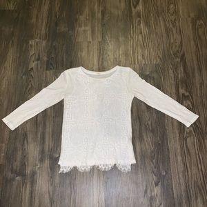 White J. Crew Lace Tee Shirt